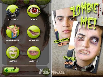 zombie me iphone 2 Zombie Me iPhone iPod Touch : Transformez Vous en Zombie (gratuit)