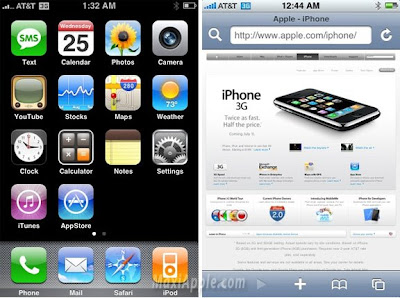 ip3ga iPhone 3G : Premieres Images des Menus