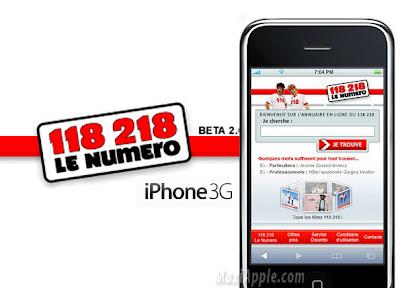 11801 118 218 sur iPhone : Annuaire Inversé (gratuit)
