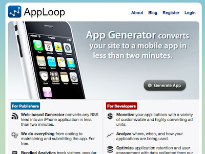 apploop 1 AppLoop : Generateur dApplications pour iPhone (video)