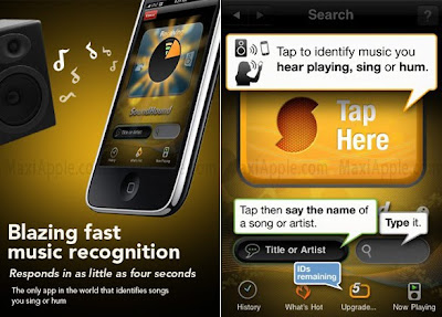 SoundHound iPhone 1 SoundHound iPhone iPad : Recherche Musicale Ultra Rapide (gratuit)