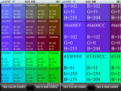 hex rgb iphone 2 HEX RGB Color Guide iPhone : Pour Graphistes (temporairement gratuit)