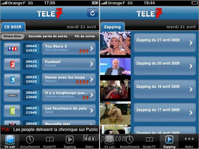 tele7 iphone Tele 7 Jours iPhone : Excellent Programme Tele (gratuit)
