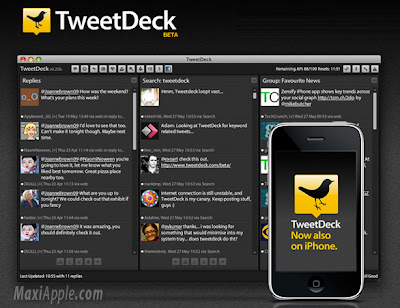 tweetdeck iphone TweetDeck iPhone : Excellent Client Twitter (gratuit)