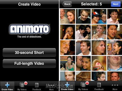 animoto iphone 1 Animoto iPhone : Creez des Video Clips Pros (gratuit)