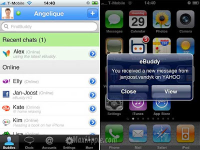 ebuddy iphone 1 eBuddy iPhone : Messagerie Multiprotocole avec PUSH (gratuit)