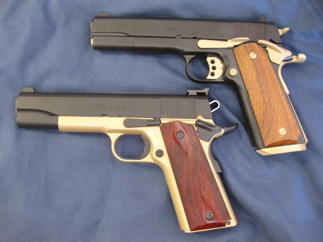 gold and black 1911 pair