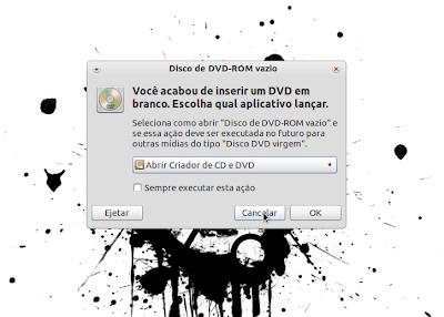 burn ubuntu1 Gravação do CD, Criação do disco de Instalação USB e Instalação do Ubuntu