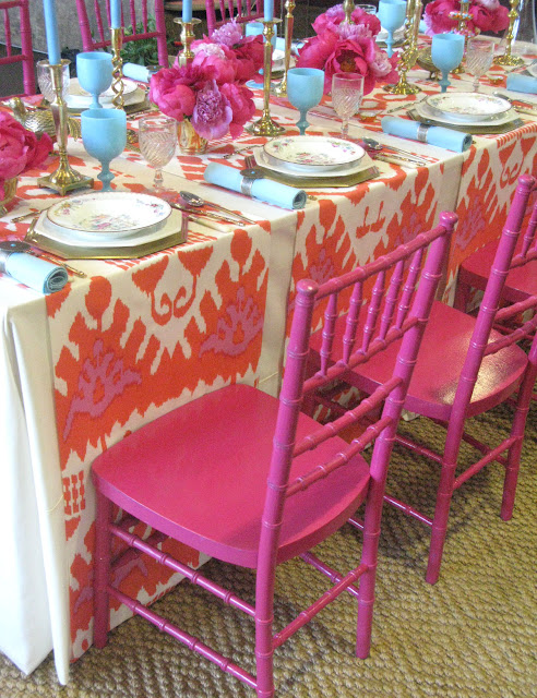 Perfect Table Setting Amazing Of Pink and Orange Table Setting Image