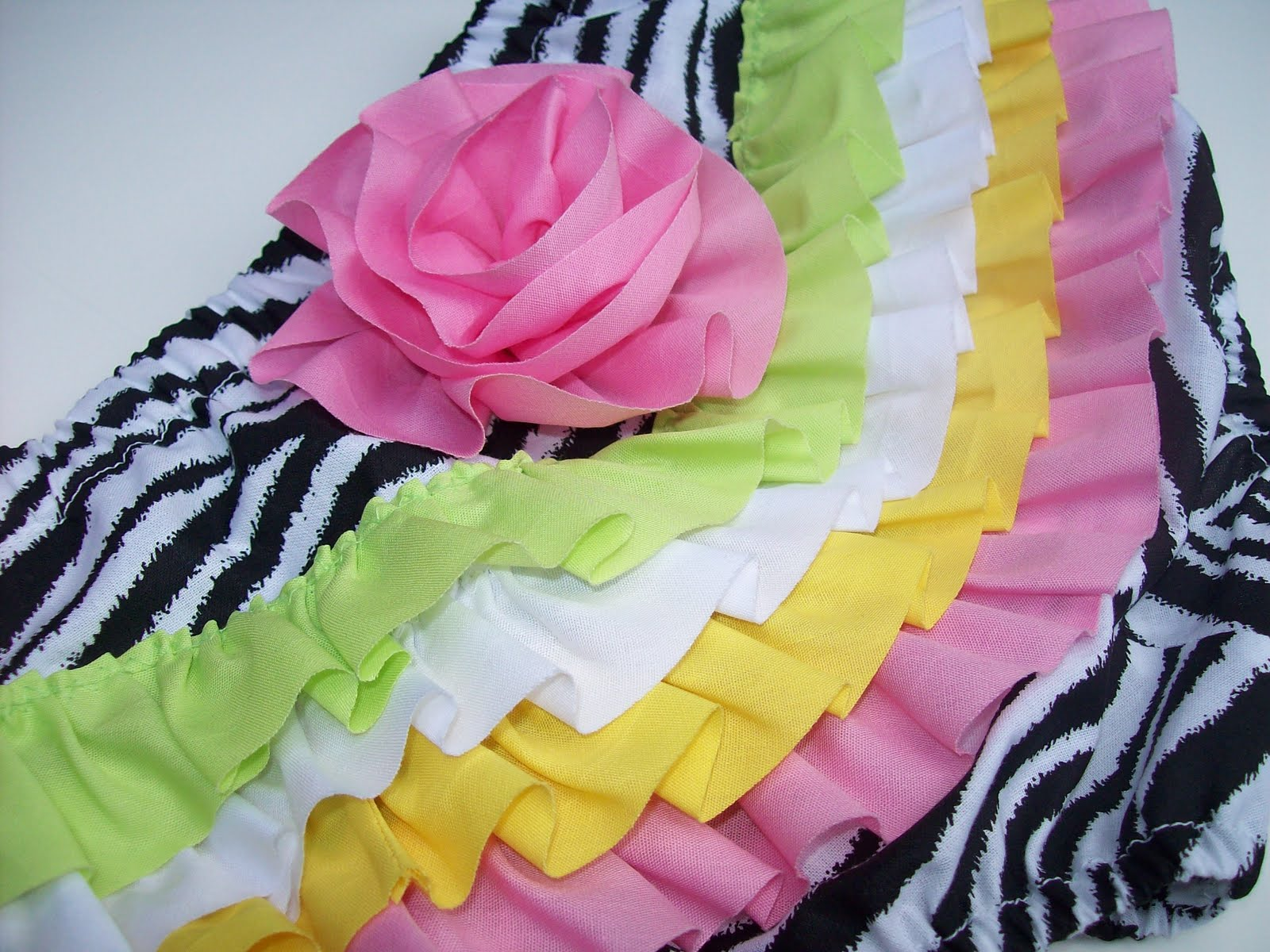 how to add ruffles to a diaper cover