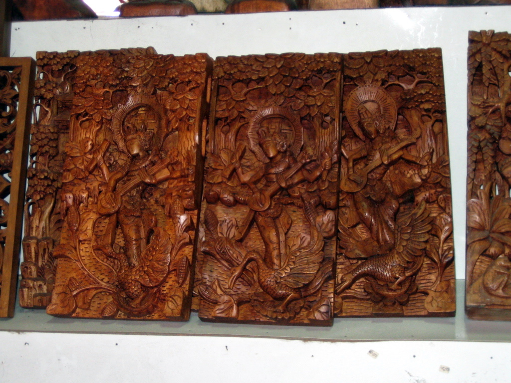 Furniture crafts indonesia wood carving