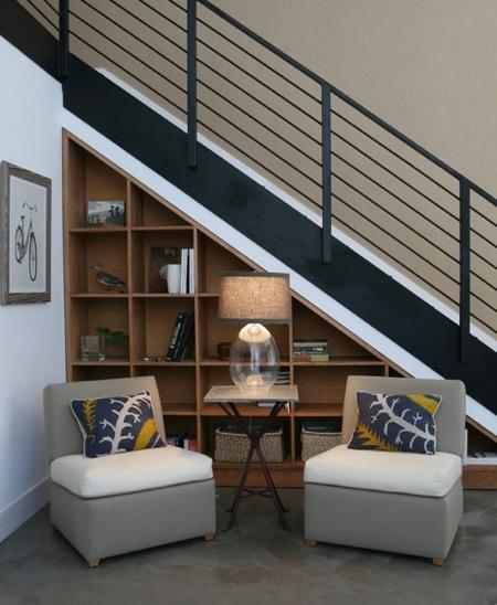 RAK BUKU ATAU LEMARI : Dengan mengukur dimensi ruang bawah tangga ...