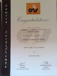 bridal make-up course certificate