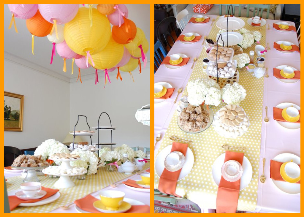 tea party baby shower decorations best baby decoration