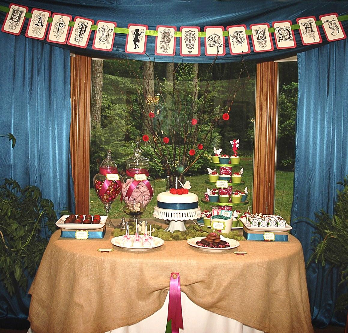 Fairy Birthday Party Ideas On Pinterest