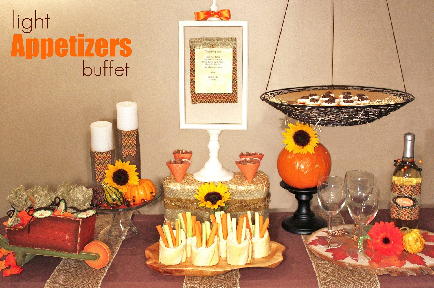 Thanksgiving tablescape celebrations at home for Appetizer decoration