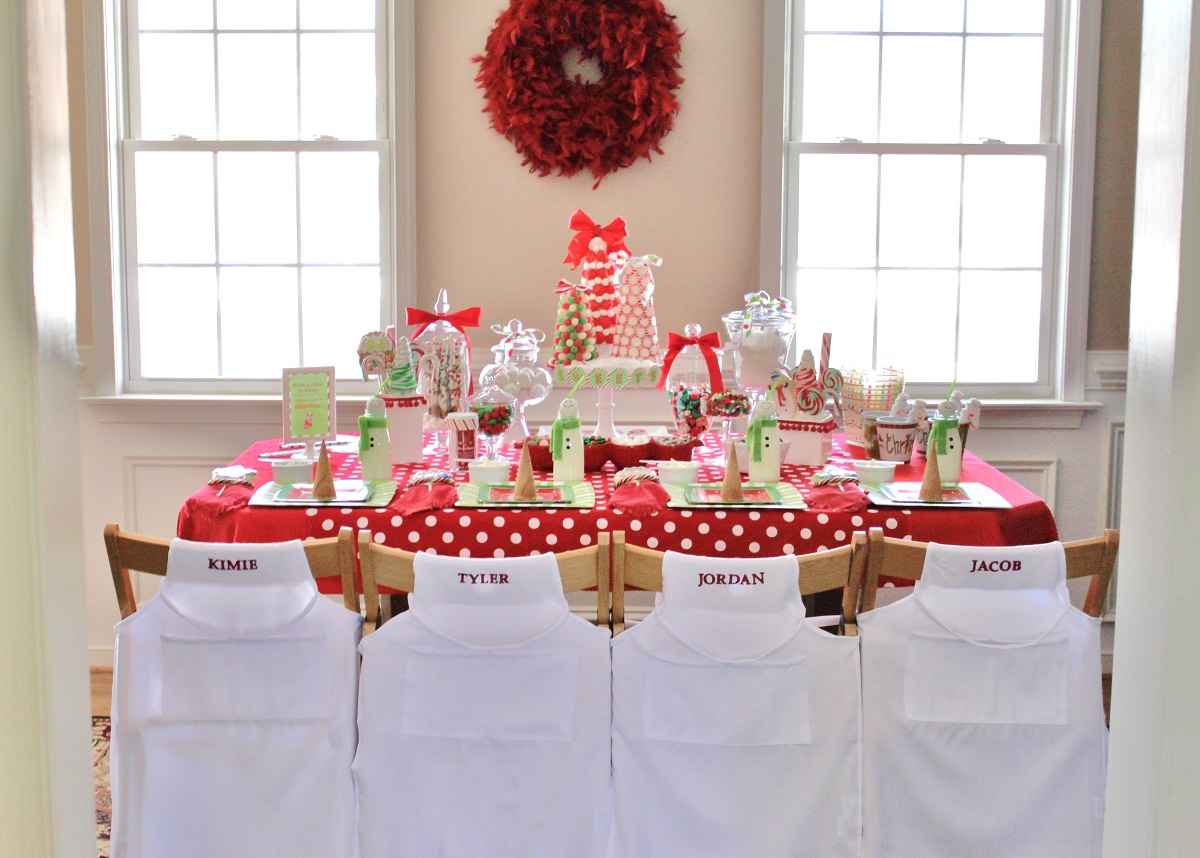 Savvy deets party boutique sweet kids christmas party ideas Table decoration ideas for parties