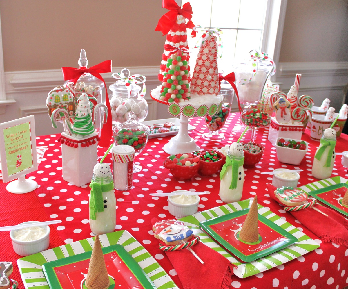 Christmas table decoration ideas for parties - Kids Christmas Party Decoration Ideas Photo 1