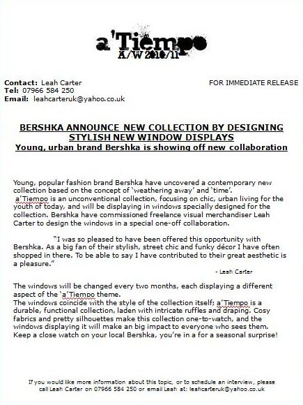 Sample fashion press releases 59