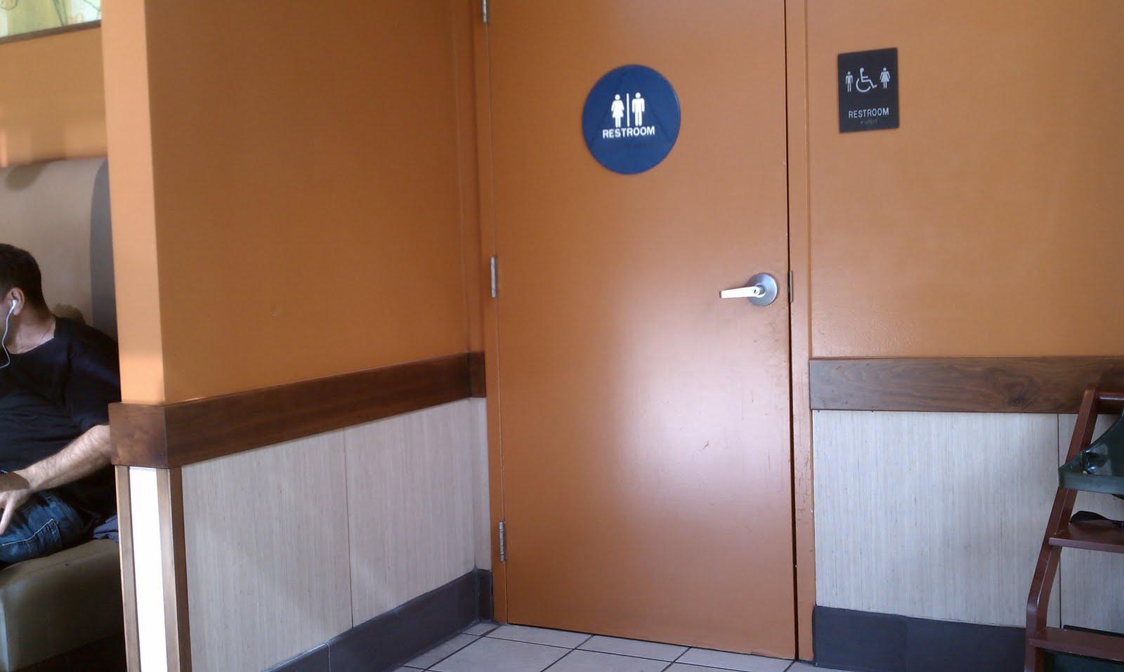 Image Gallery Starbucks restroom. Bathroom Sconces Brushed Nickel