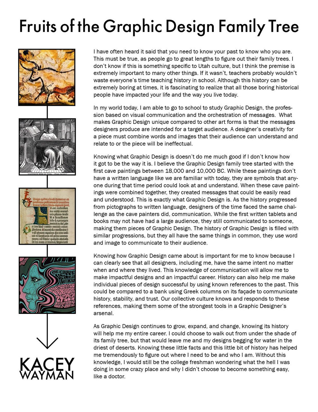 des his f kacey history of design essay essay where we examined the importance of knowing the history of graphic design and how it will help us in our future projects and careers