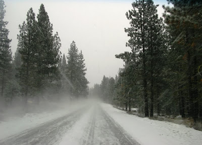 snowy road