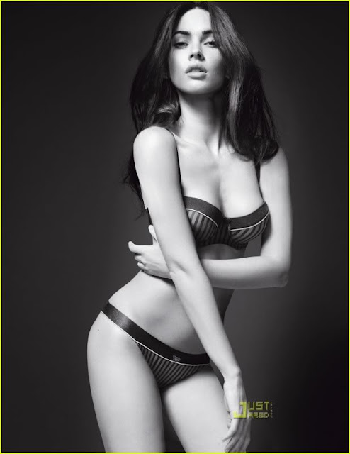 Megan Fox Sizzles in Armani Underwear Shoot3