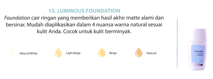 Beauty By Wardah Luminous Liquid Foundation
