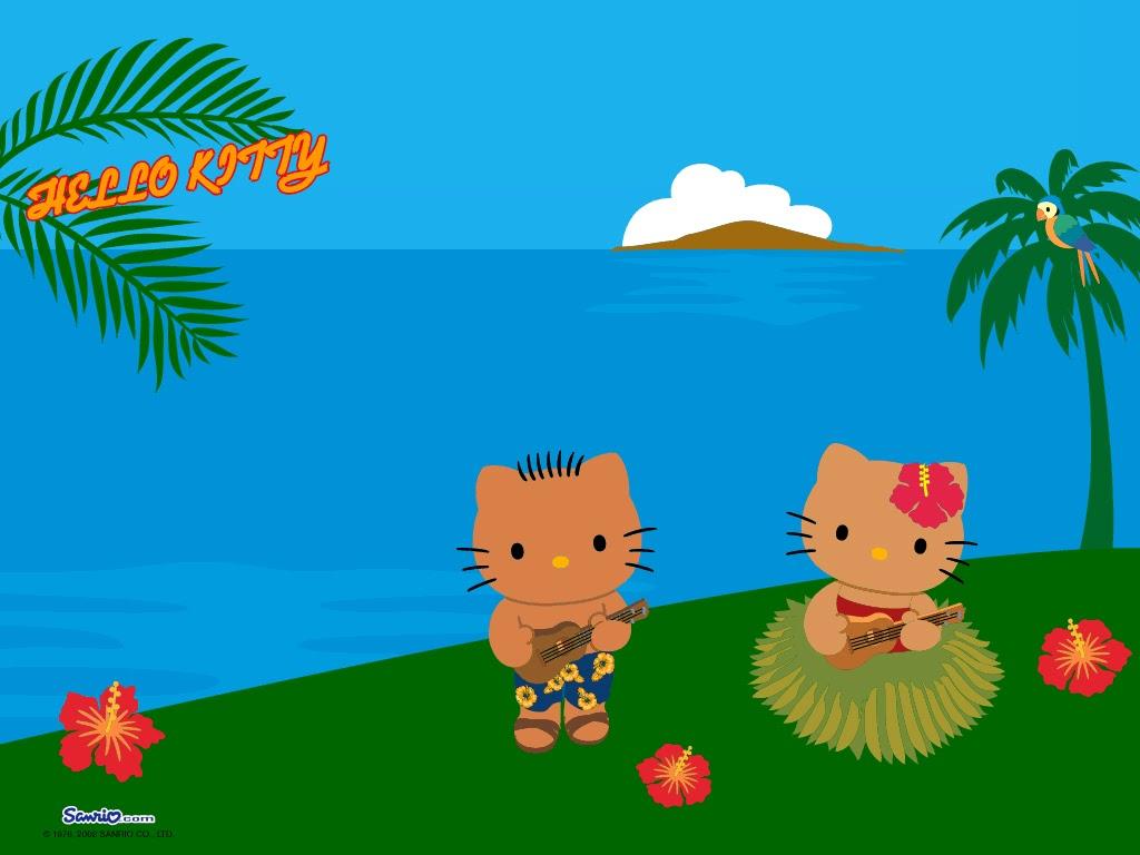 Mimmy and Hello Kitty: Wallpaper Hello Kitty Hawaii