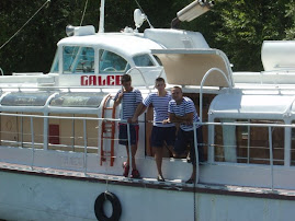 boat crew at Sveti Naum near Ohrid