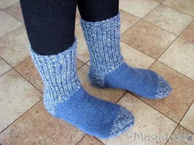 Mannens blå sockor.