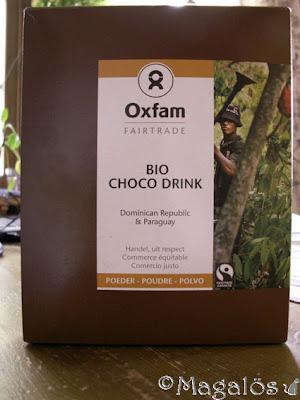 Ekologiskt och rättvisemärkt choklad-dryckspulver.