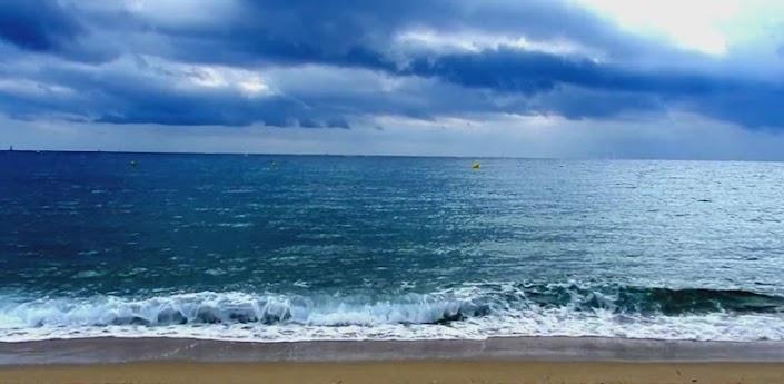 Cloudy Ocean Waves Live HD Wallpaper