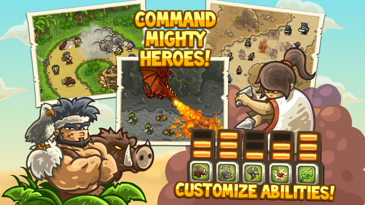 kingdom rush frontiers android free heroes