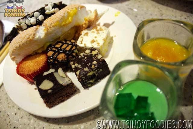 the buffet international cuisine desserts