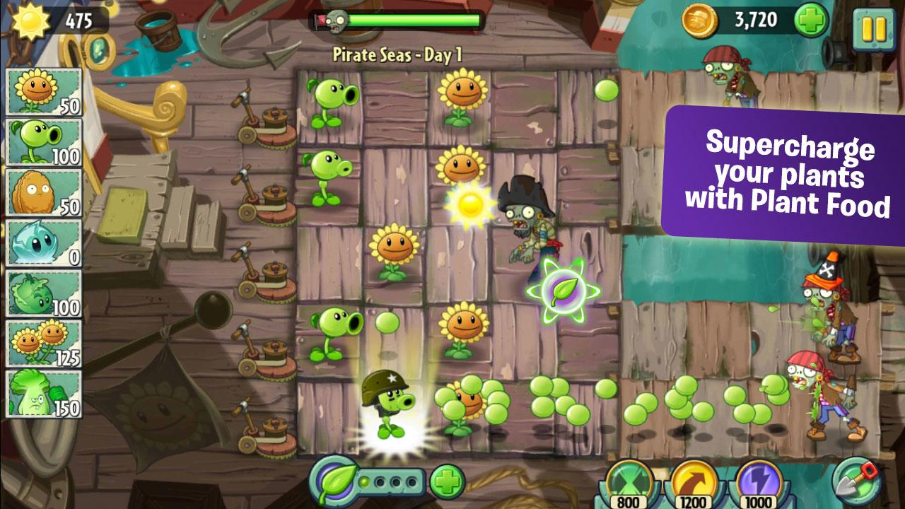 Screenshot Plant vs Zombie 2