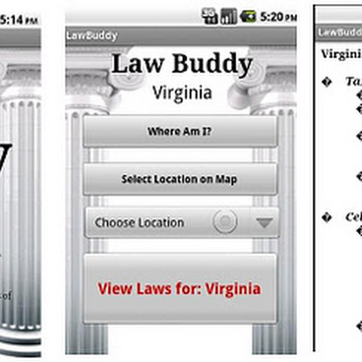 Law Buddy App for Smartphones.