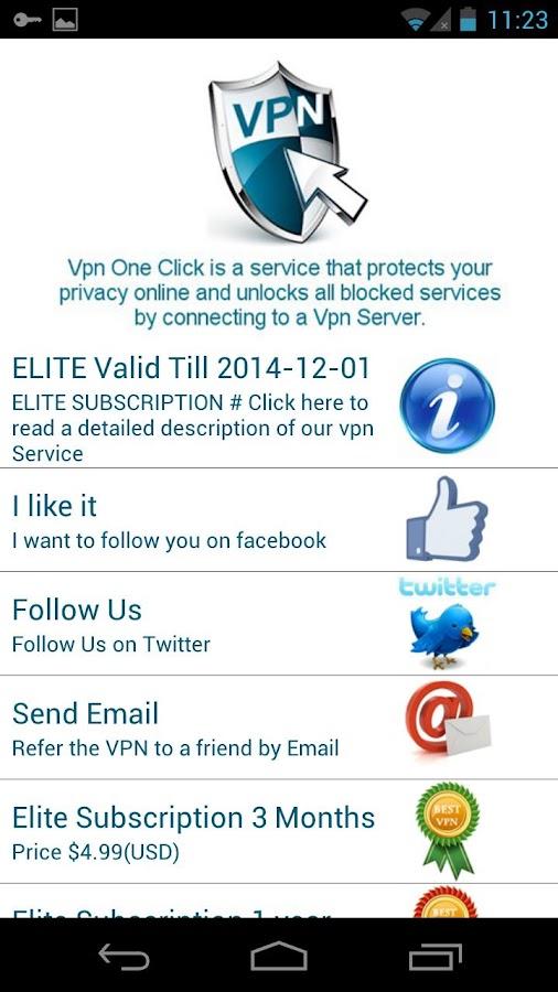 تطبيق Vpn One Click v4.2 تصفح الانترنت بأمان