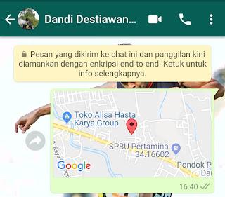 share lokasi lewat whatsapp