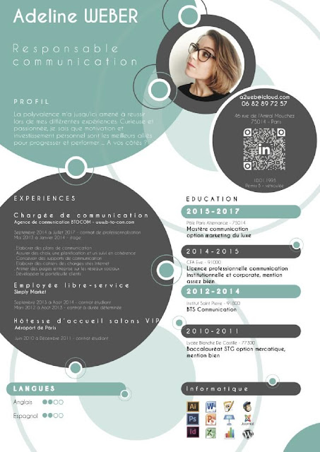 Contoh Template CV Menarik dan Keren