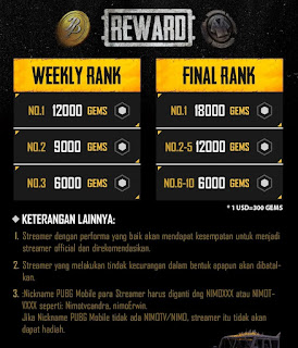 reward gems nimo tv pubg mobile