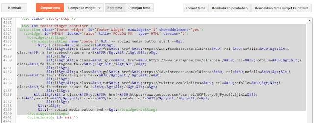 cara menempatkan widget sosial media keren di blog