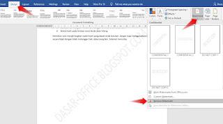 cara menghilangkan watermark di word