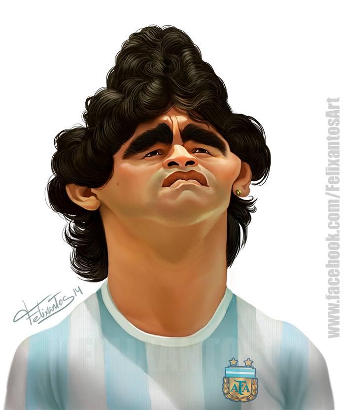 Diego Armando Maradona por Felixantos