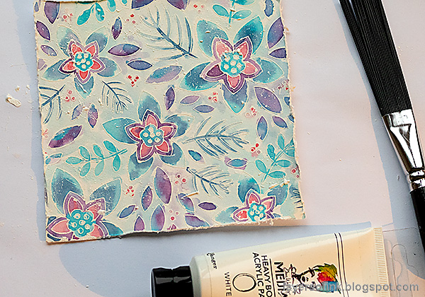 Layers of ink - Winter Floral Watercolor Tutorial by Anna-Karin Evaldsson.