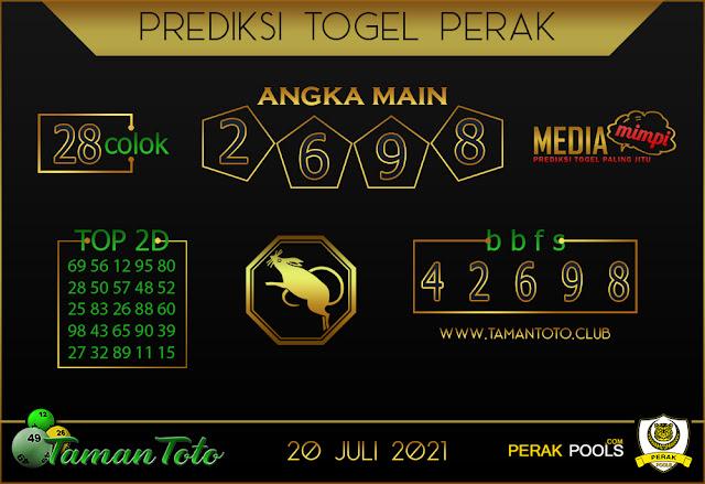 Prediksi Togel PERAK TAMAN 20 JULI 2021