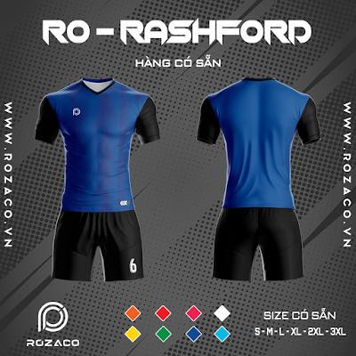 Áo Không Logo Rozaco RO-RASHFORD Màu Xanh Bích