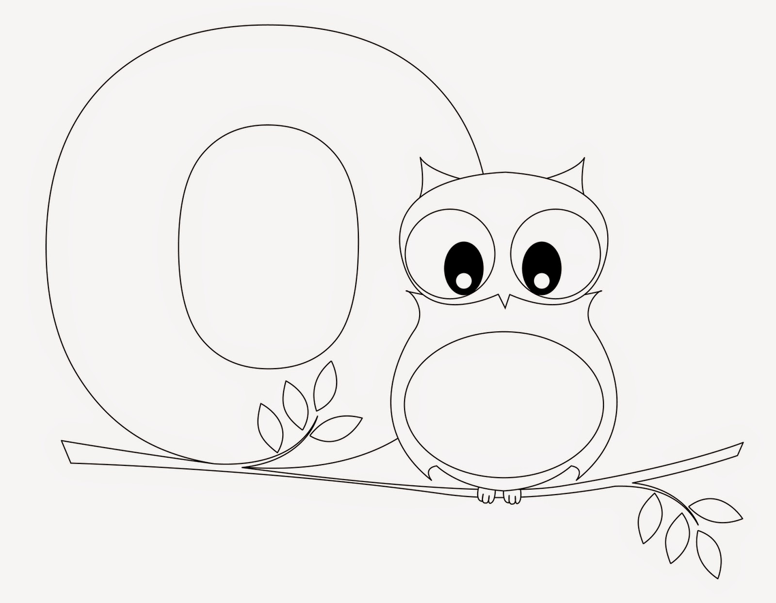 Kids Page O Is For Owl