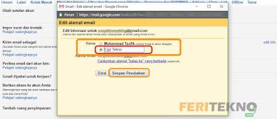 cara mengganti nama tampilan di gmail 4