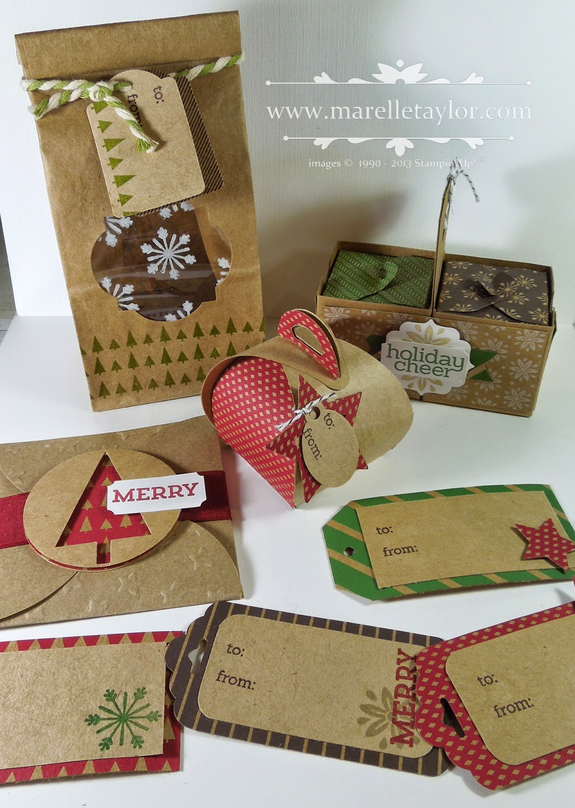 Christmas Gift Bags Australia.Marelle Taylor Stampin Up Demonstrator Sydney Australia